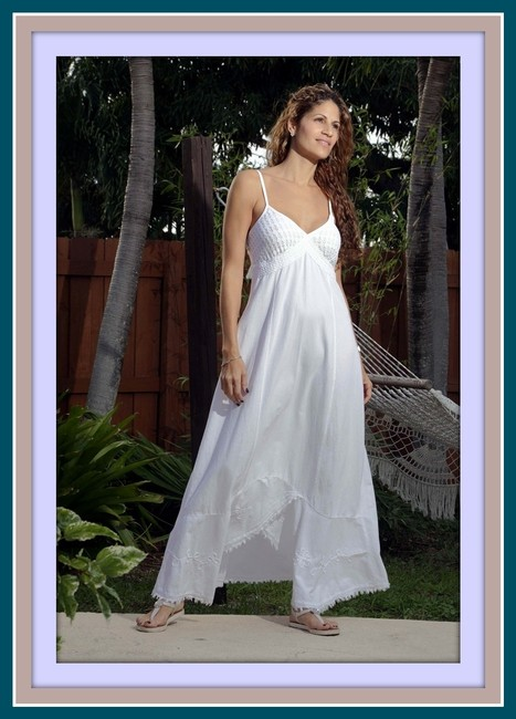 White Maxi Dress by Lirome Beach Wedding Resort Cottage Chic Organic Summer