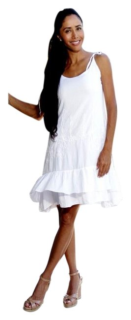 Preload https://item2.tradesy.com/images/lirome-white-hamka-organic-cotton-ruffle-cozy-above-knee-short-casual-dress-size-6-s-12921676-0-4.jpg?width=400&height=650