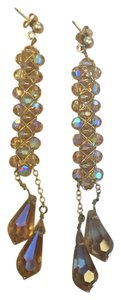 Nordstrom Gold and Amber beaded drop earrings