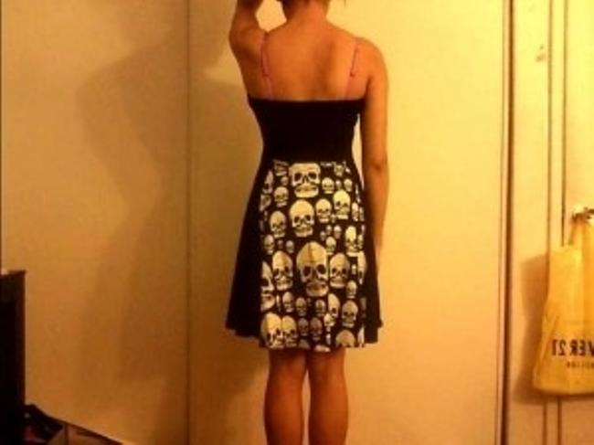 Royal Bones short dress Black and White w/ Skulls on Tradesy