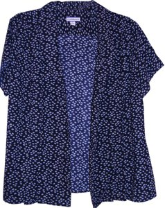 Croft & Barrow Top Black with white polka dots