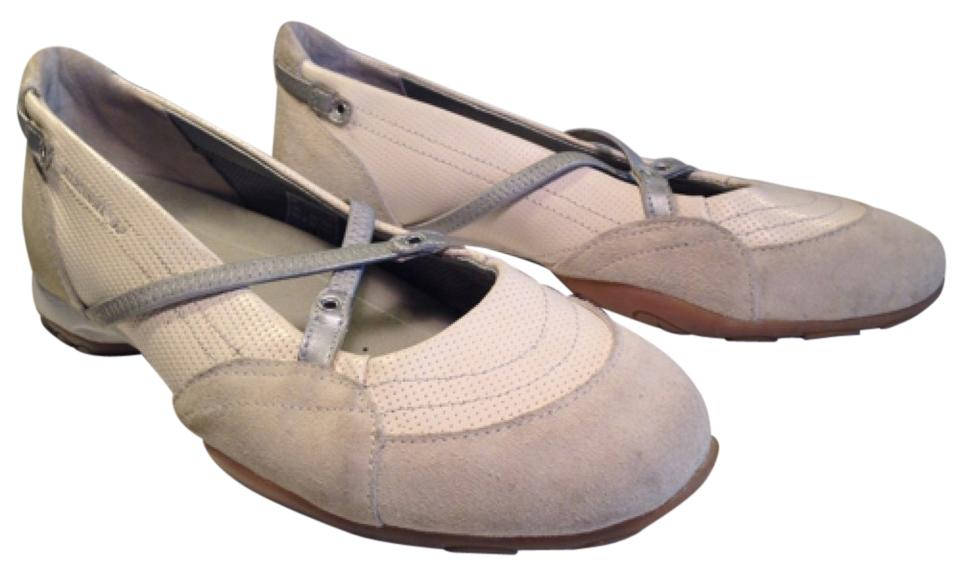 9ee67e7021 Mephisto Cream Taupe   Silver Cute Comfortable Leather Mary Jane Athletic  Flats