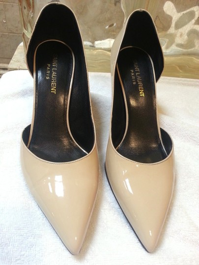 Saint Laurent Nude Patent Pumps