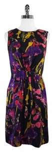 MILLY short dress Black Multi Color Splatter on Tradesy