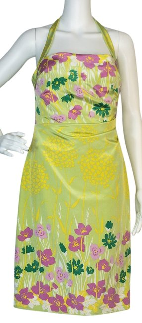 Preload https://img-static.tradesy.com/item/12923782/kay-unger-green-pink-yellow-above-knee-cocktail-dress-size-6-s-0-1-650-650.jpg