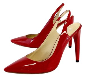 Michael Kors Red Patent Leather Slingbacks Sandals
