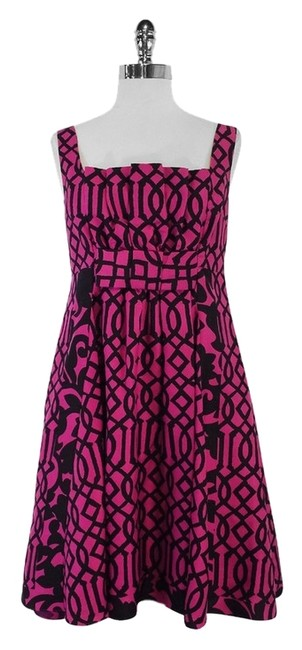 Preload https://img-static.tradesy.com/item/12923791/tracy-reese-pink-and-black-silk-print-above-knee-short-casual-dress-size-8-m-0-1-650-650.jpg