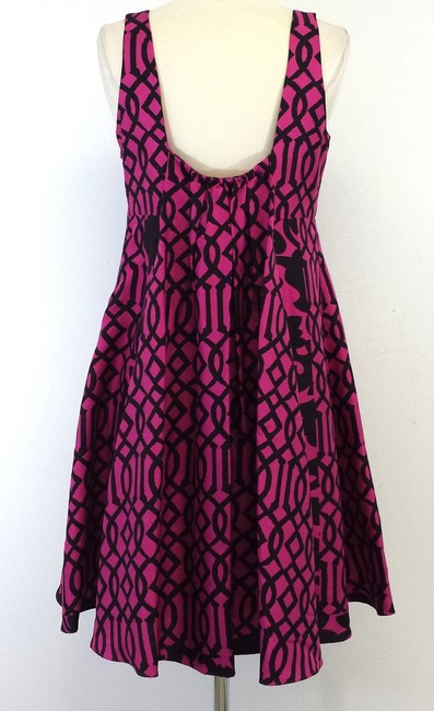 Tracy Reese short dress Pink Black Silk Print on Tradesy