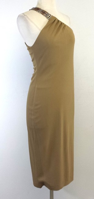 Ralph Lauren Tan One Shoulder Dress