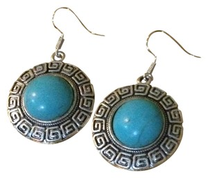 Handmade Tibet Silver Round Earrings