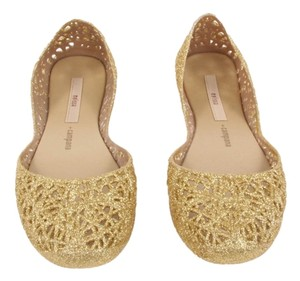 Melissa New Trend Spring Sparkle Gold Flats