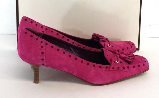 Coach Pink Suede Loafer Style Heels Pumps