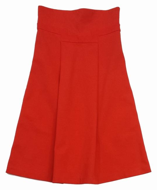 Diane von Furstenberg short dress Orange Cotton Strapless on Tradesy