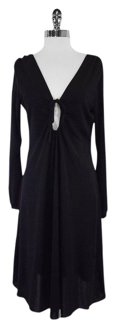 Preload https://item1.tradesy.com/images/moschino-black-long-sleeve-high-low-formal-dress-size-12-l-12924040-0-1.jpg?width=400&height=650