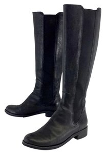 Cole Haan Black Leather Elastic Boots