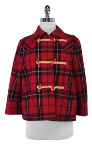 See by Chloé Red Plaid Toggle Jacket