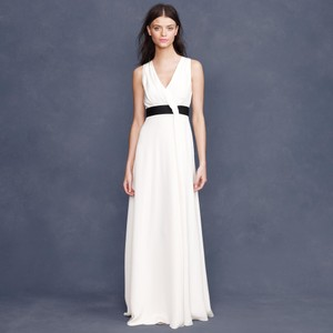 J.Crew Ivory Silk Gala Modern Wedding Dress Size 6 (S)