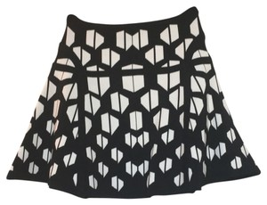 Diane von Furstenberg Mini Skirt Black/white
