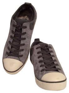 UGG Australia Sneakers Suede Shearling Pewter Flats