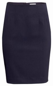 H&M Office Zip Skirt Navy