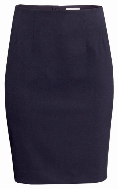 Preload https://item4.tradesy.com/images/h-and-m-navy-pencil-knee-length-skirt-size-12-l-32-33-12924808-0-1.jpg?width=400&height=650