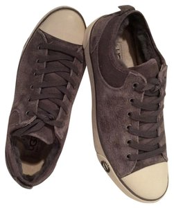 UGG Australia Suede Sneaker Shearling Pewter Flats