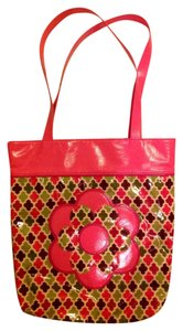 Vera Bradley Tote in Pink and green