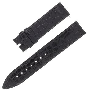 Franck Muller Franck Muller 16 - 16 mm Black Leather Men's Watch Strap Band (5777)