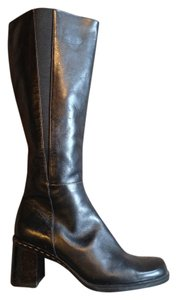 b2cc102b7f3 Liz Claiborne Leather Wide Calf Comfortable Casual Dressy Black Boots