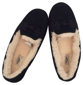 UGG Australia Shearling Suede New With Tags Nwt Black Flats