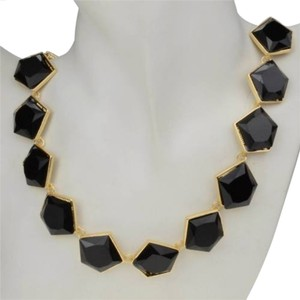 Black Geometrical Collar Bib Statement Necklace