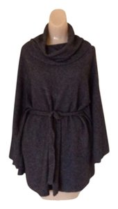 Victor Alfaro Gray Belted Cowl Neck Sweater Size XL Cape