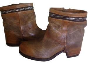 A.S. 98 Leather Ankle Motocycle Cognac Boots