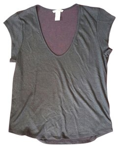 H&M See Through Gold Accent Top Grey
