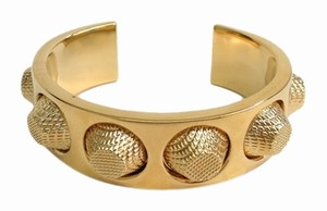 Balenciaga Balenciaga Gold Stud Bangle Cuff Bracelet in Box