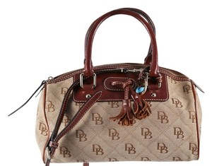 Dooney & Bourke Small Leather Satchel in Brown