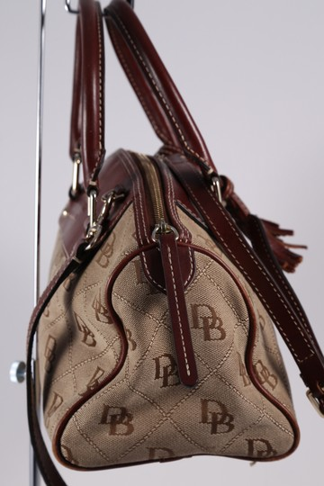 Dooney & Bourke D&b Small Leather Brass Satchel in Brown