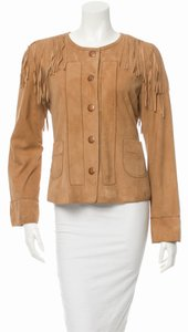 Tory Burch Brown/Tan Leather Jacket
