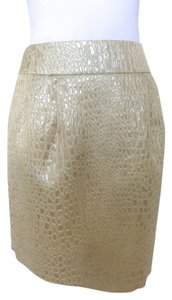 Rebecca Moses Brocade A-line Skirt Metallic Gold