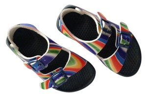 Birkenstock Summer Beach Sand Pool Park Multi color red yellow blue green Sandals