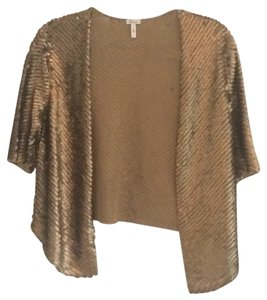 Nordstrom/TBD Sequin Boho Top Gold