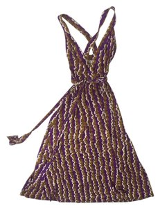Purple white and camel Maxi Dress by Diane von Furstenberg