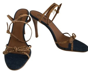 Carlos by Carlos Santana Denim / Natural leather Sandals