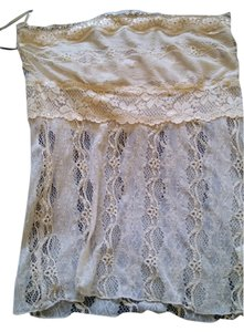 Mystree Lace Tube Vintage Strapless Top cream