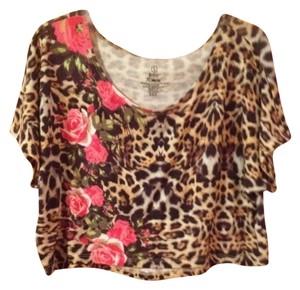 Betsey Johnson T Shirt Leopard