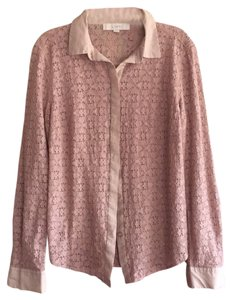Ann Taylor LOFT Top Beige and Nude lace