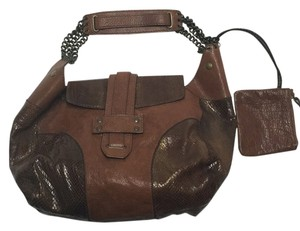 Theory Leather and Snake skin hobo bag Hobo Bag