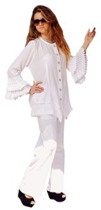 Lirome Crochet Bohemian Vintage Summer Top White