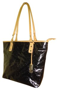 Marc Fisher Black Tote in Black,Mocha Brown