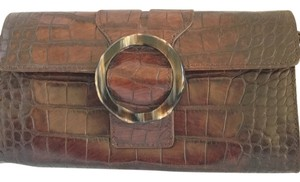 Adrienne Vittadini Dark Brown Clutch